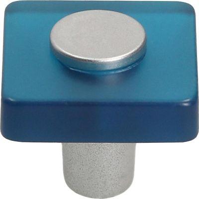 Jaladera cuadrado abs metacrilato azul cromado mate