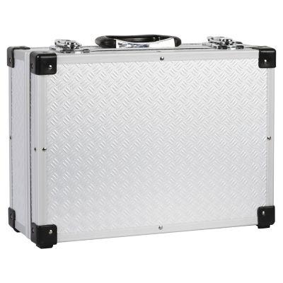Caja portaobjetos con cubierta de aluminio