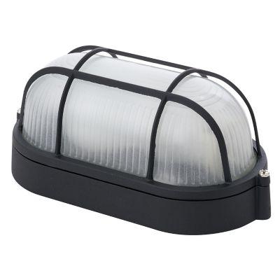 Tortuga led 60W Gato negro 1luz E27 metal rectangular IP44 10cm