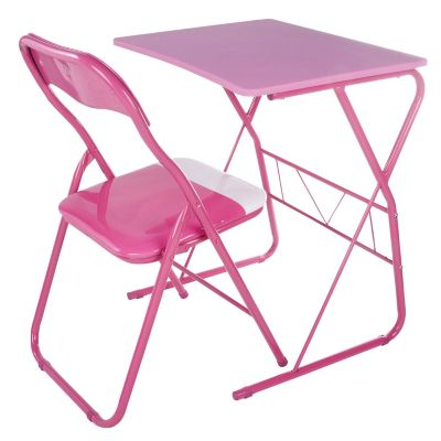 Escritorio metálico con silla