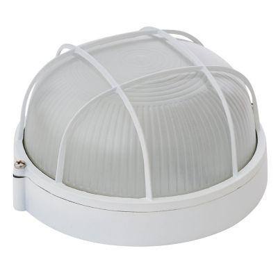 Tortuga led 60W Gato blanco 1luz E27 redondo IP44 10cm