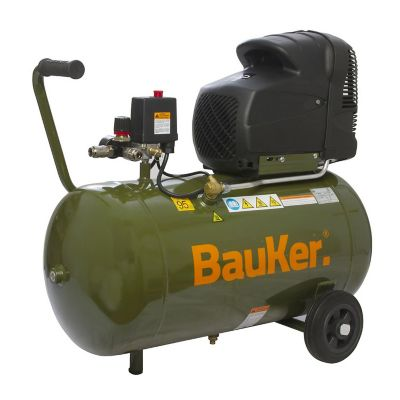Compresor c/kit 3hp max 50lt  116psi 6cfm bauker