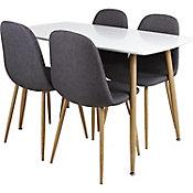 Comedor Scandia c/4 sillas de madera 120 x 70 x 75 cm