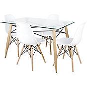Kit mesa con 4 sillas Soar negro