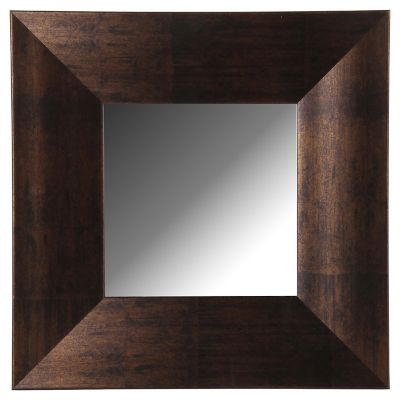 Espejo decorativo chocolate 40x40 cm