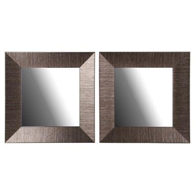 Set 2 espejos decorativos dorados 37x37 cm