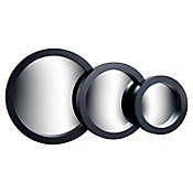 Set 3 espejos 23.5+18.5+13.5 cm diámetro