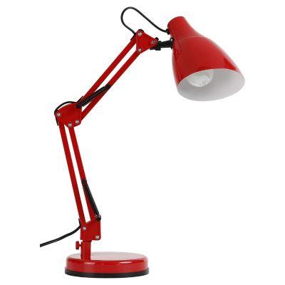 Lámpara escritorio 40W Pixar rojo E27 metal 40cm
