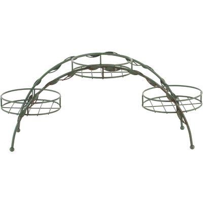 Porta maceta metal diseño hoja olivo 67 x 22 X 29 cm