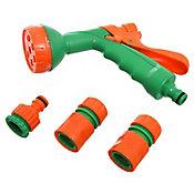 Set 4 piezas con pistola plástico 6 funciones