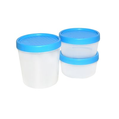 Set de contenedores c/taparrosca 3 piezas plástico