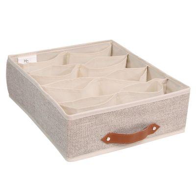 Caja organizadora de tela 16 espacios 35 x 27  x 9 cm