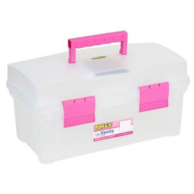 """Caja Vanity 16"""" nat/rosado"""