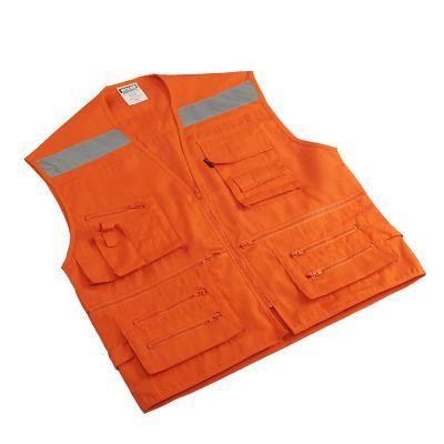 Chaleco Geólogo naranja talla L