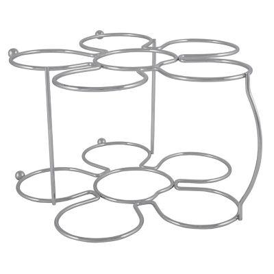Organizador de vino con forma de flor