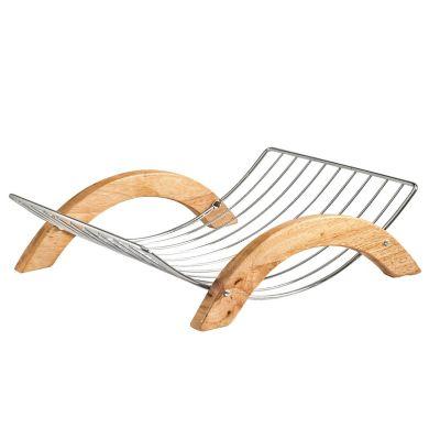 Frutero con asas de madera