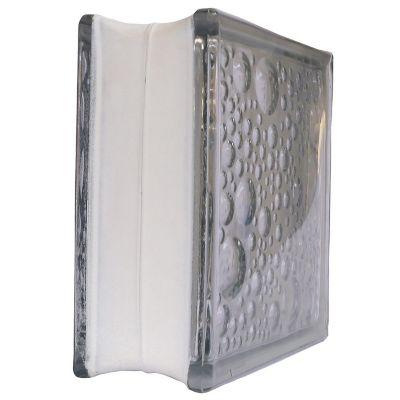 Bloque vidrio burbuja 19 cm x 19 cm x 8 cm