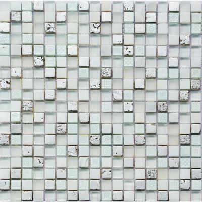 Malla piedra silver 30x30 cm