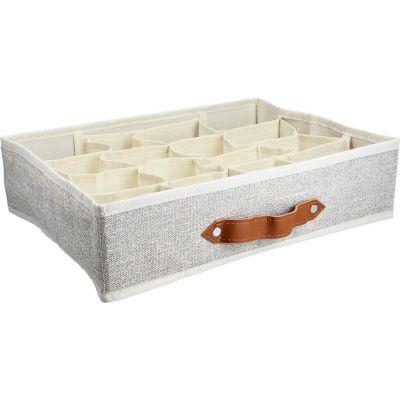 Caja organizadora tela  16 espacios 35 x 27  x 9 cm