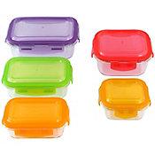 Set de contenedores de clip 5 piezas vidrio