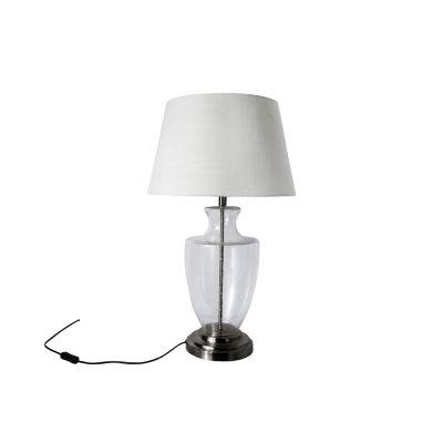 Lámpara mesa 60W Tuscan transparente 1luz E27 65cm