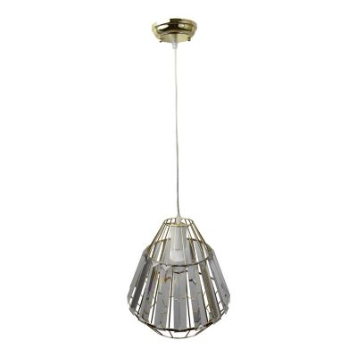 Lámpara colgante 60W Terni plata 1luz E27 180cm