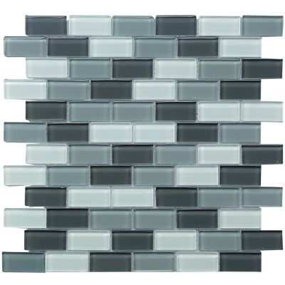 Malla vidrio negro y blanco 30x30 cm