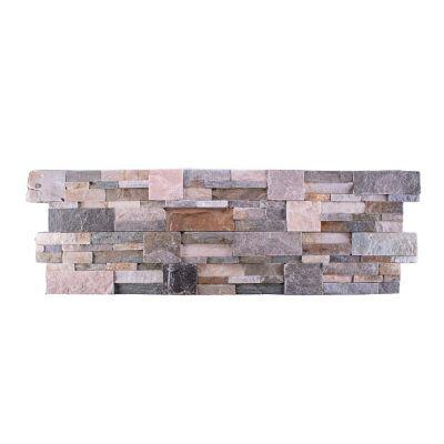 Piso cerámico piedra mosaico multicolor 35x18 cm