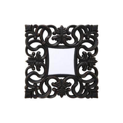 Set 3 espejos decorativos negro 25x25 cm