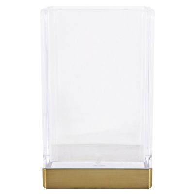Vaso de baño Clarity acrílico transparente c/dorado