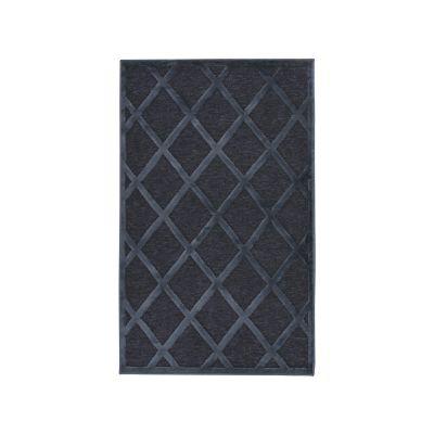 Tapete Farashe lana azul oscuro 67x105 cm
