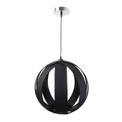 Lámpara colgante Praga negro 1luz E27 metal 40cm