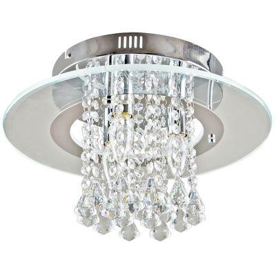 Lámpara colgante 40W Allison plata 3luces E14 vidrio 40cm