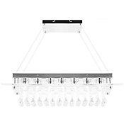 Lámpara colgante 40W Allison plata 4luces E14 vidrio 75cm