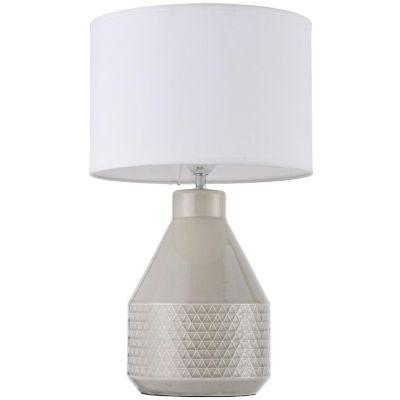 Lámpara mesa Antigua gris E27 cerámica 45cm
