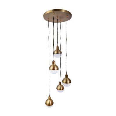Lámpara colgante 40W Xilitla cobre 5luces E14 trend metal 40cm