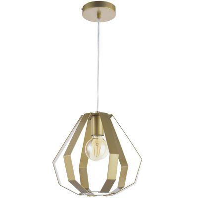 Lámpara colgante 40W Cuitzeo oro 1luz E27 trend metal 30cm