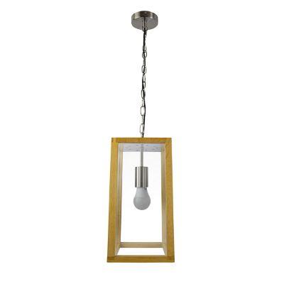 Lámpara colgante 40W Xico natural 1luz E27 trend madera 20cm