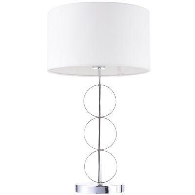 Lámpara mesa 40W Arteaga plata 1luz E27 35cm