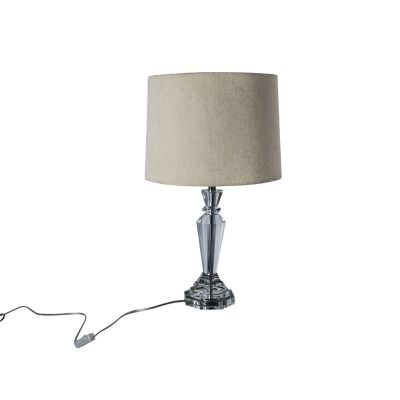 Lámpara mesa 40W Pinos transparente 1luz E27 35cm