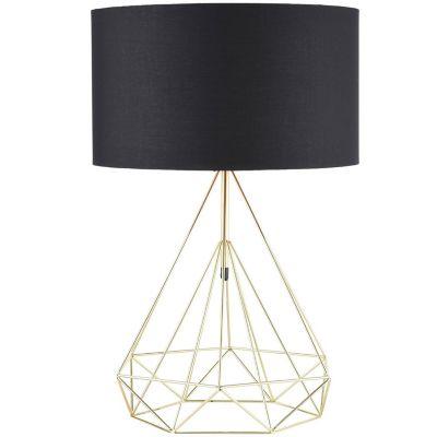 Lámpara mesa 40W Sombrerete cobre 1luz E27 metal 40cm