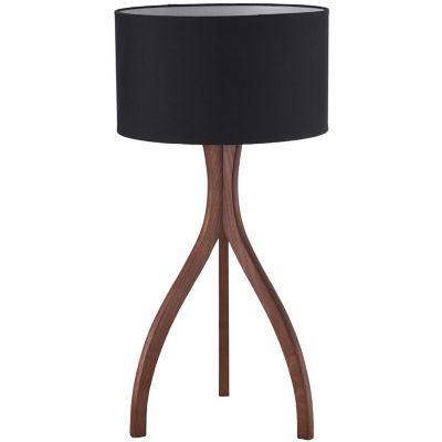 Lámpara mesa 40W Tripod natural 1luz E27 madera 25cm