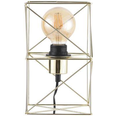 Lámpara mesa 40W Bolaños Oro 1luz E27 trend metal 15cm