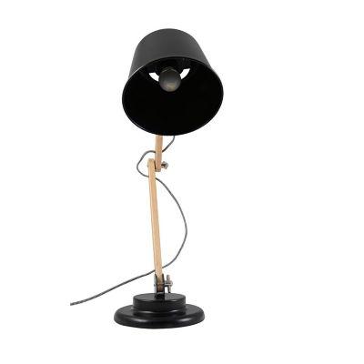 Lámpara mesa 40W Teul natural 1luz E27 trend madera 20cm