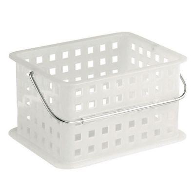 Canasta de plástico blanco