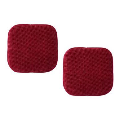 Set cojines para silla rojo 40x40 cm