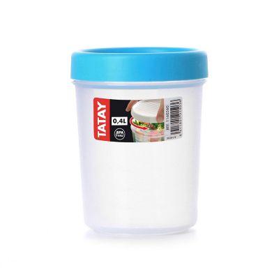 Contenedor c/taparrosca 400 ml plástico