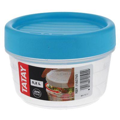 Contenedor c/taparrosca 200 ml plástico