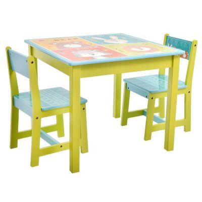 Set de mesa con 2 sillas