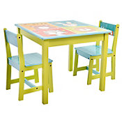 Set de mesa con 2 sillas zoo